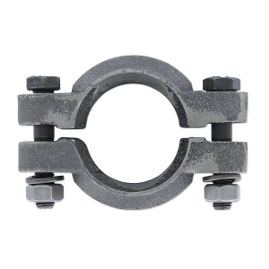 Two-Piece Exhaust Pipe Clamp for downswept exhaust