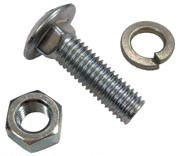 Front Wheel Weight Mounting Carriage Bolt, Nut, & Washer Set