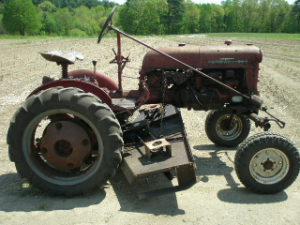 1957 Farmall Cub with 5' Woods Belly Mower