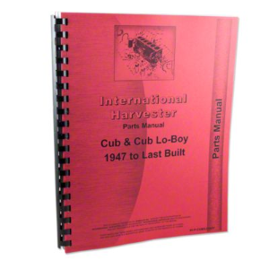 """New"" Farmall Cub/Cub LoBoy Parts Catalog"