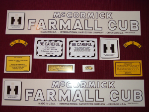 Farmall Cub Decal Set, Mid-Early Production