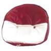 Red and White Vinyl Drawstring Seat Cover