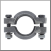 Two-Piece Exhaust Pipe Clamp for downswept exhaust (SKU: 362361R1)