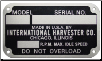 Old Style Serial Number Tag (SKU: FTC289A)